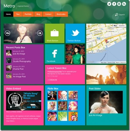 responsive layout metro theme