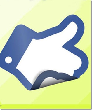 facebook like green