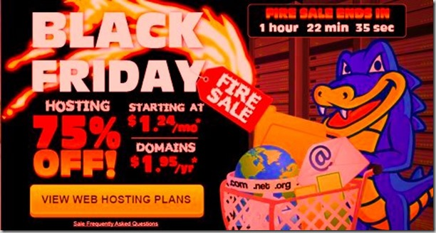 flash sales blackfriday for hostgator