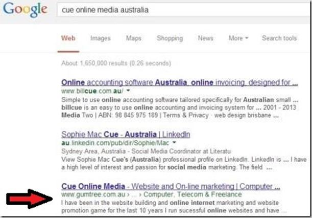 our website design and internet  marketing blog on google