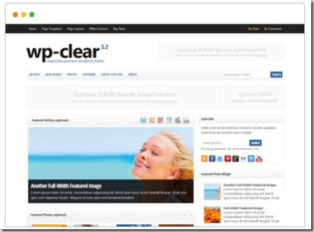 wp clear wordpress business theme