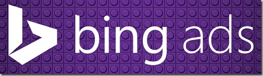 the bing ads logo in purple
