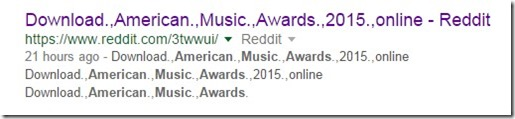 How i watched the AMERICAN MUSIC AWARDS 2015 with google search and