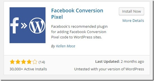 facebook ads plugin for conversion pixel