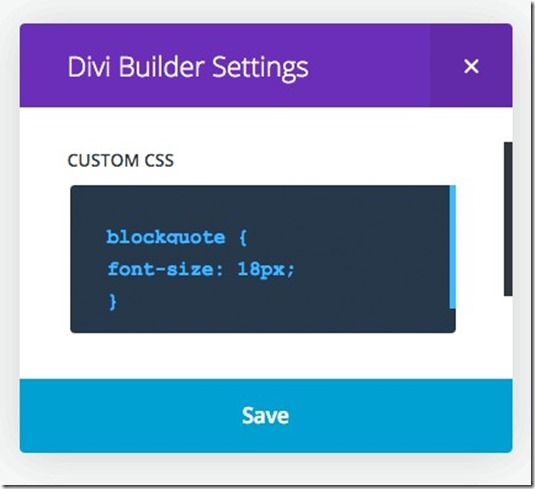 adding CSS to a Child Theme or within the Divi Theme